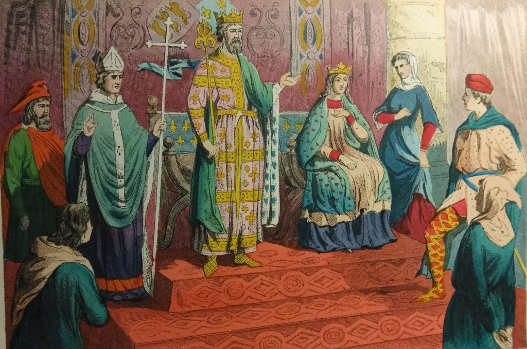 Costumes 1200 - 1300 Physician, Bishop, King, Queen, Costume of a Lady, Nobleman  Gentleman, Rustic