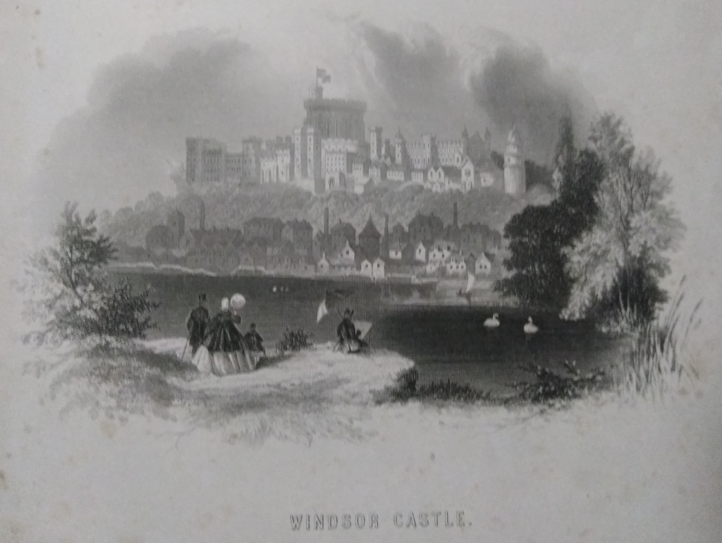 Image of Windsor Castle, National and Domestic History of England, Magna Charta, writen by W.H.S. Aubrey in 1869