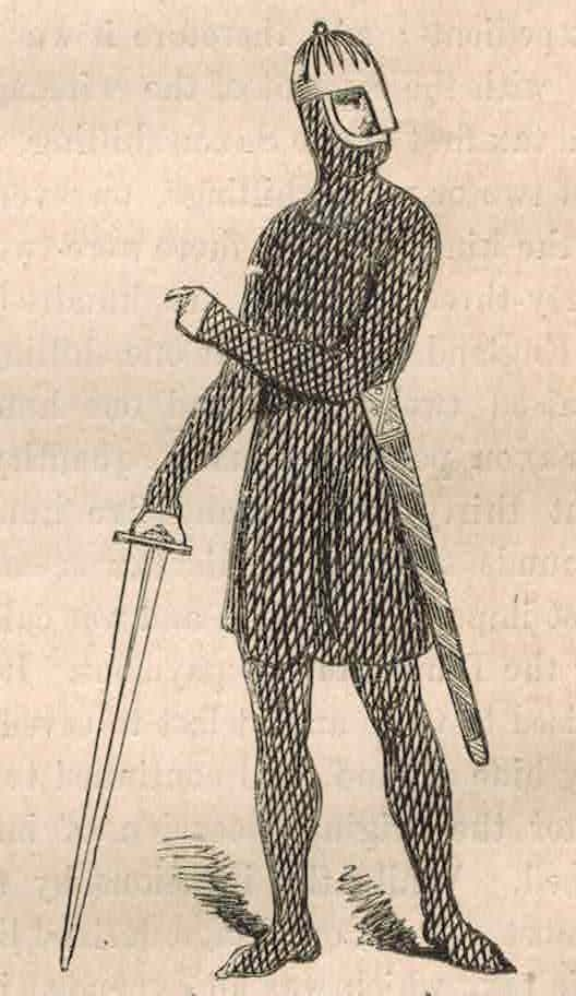 A Danish Soldier From Strutt's Manners and Customs